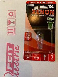 XENON Halogen Light BULB 18 Watt Wedge Base 12V Clear (BP18XN-12) Box Of 12 New