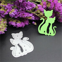 Lovely Cat Couple Album Cards Decoration Embossing Folder Die Cutter Template J&