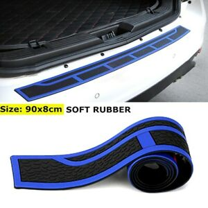Black&Blue Rubber 35inch Rear Bumper Protector Guard Door Boot Entry Sill Guard