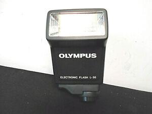 Olympus Electronic flash L-30,  AZ-4 zoom