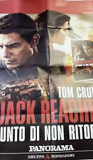 Locandina edicola-poster 80X90:Jack Reacher 2 Tom Cruise DVD EDIZ.PANORAMA
