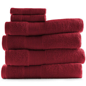 6 Piece Towel Set 700 GSM Ultra Soft 100% Cotton Towels Bath & Washcloths Set