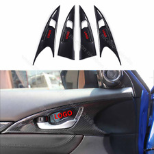 Carbon fiber color Door Handle bowl Panel Cover For Honda Civic 4-Door 2016+