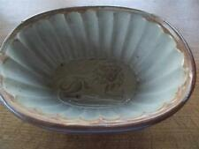 Antique Victorian c19th Stoneware Pottery Jelly Mould Recumbant LION Pattern VGC