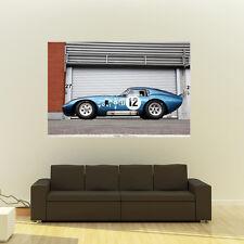 Poster of Ford Shelby AC Cobra Daytona Giant HD Huge 54x36 Inch Print 137x91 cm