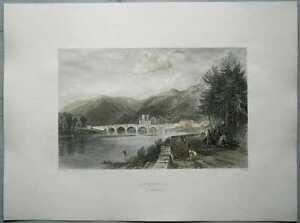 1837 Allom print SCOTLAND: DUNKELD, PERTHSHIRE (#8)
