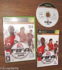Football FIFA 2005 XBOX  CON LIBRETTO in tedesco francese live online EA sports