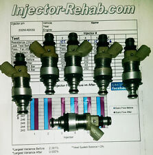 *Cleaned & Flow Tested* 4Runner T100 FUEL INJECTOR SET (6) 92-98 Toyota 3.0 3.4