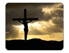 "9""x7"" MOUSE PAD - CHRISTIAN 10 Cross Prayer God Jesus Computer Office Mousepad"
