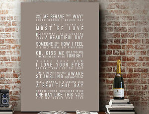 Elbow One Day Like This | Wall Art SONG LYRICS TYPOGRAPHY PRINT | CANVAS GIFT