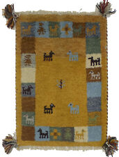 Small Size Entrance Tribal 1'4X2' Indo-Gabbeh Oriental Rug Kitchen Kids Carpet
