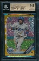 BGS 9.5 WANDER FRANCO 2019 Bowman Chrome GOLD REFRACTOR #/50 RC TRUE GEM MINT+