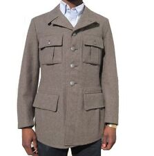Button Wool Unbranded Military Coats & Jackets for Men