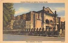 Ciudad Trujillo, Dominican Republic, Cathedral On Gov'T Postal Card, dated 1948