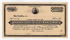 Brunswick Consolidated Gold Mining Company stock