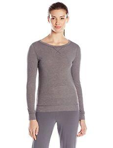 Calvin Klein Women's Liquid Lounge Pajama Top, Grey Heather, Size XS