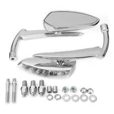 Rear Review Mirrors For Harley Dyna Heritage Softail Sportster 8mm 10mm Chrome