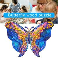 Beauty Butterfly Wooden Cartoon Design Adult Kids Toy Home Decor Puzzle Jigsaw