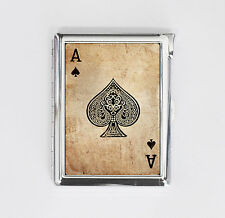 cigarette case ACE OF SPADE card poker card holder wallet box with lighter