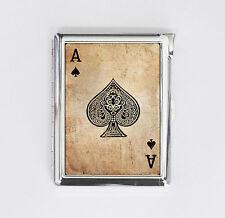cigarette case ACE OF SPADE card poker card holder wallet box with lighter