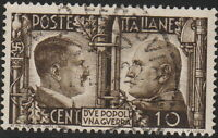 Stamp Italy SC 413 WWII War Socialist 3rd Reich Adolf Mussolini Axis Used