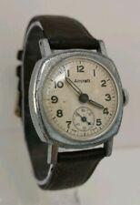 Vtg 1940 AIRCRAFT WW2 Era English Made Art Deco Gents Military Style Wrist Watch