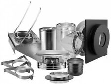 DuraVent Stove Vent Kit 6 in. Through-The-Wall Chimney Fire-Safe Durable Steel