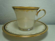 Lenox Eclipse Cup and Saucer Set Footed
