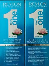REVLON PRO UNIQ ONE LOTUS FLOWER ALL IN 1 HAIR TREATMENT 2 PC , FREE FAST SHIPP