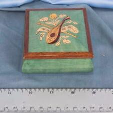 Vintage Sorrento Ring Jewelry Box Italy Inlaid Wood dq