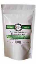 30 Kava & Damiana Relaxation Tea Bags - Stress, Anxiety, Libido, and More