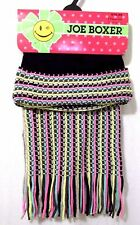 Ladies Scarf And Hat Set Knit One Size Fits All Striped Joe Boxer New With Tags