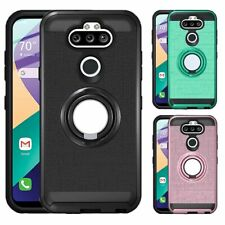 For LG K31/Phoenix 5/Risio 4/Fortune 3 Phone Case Ring Holder Stand Hybrid Cover