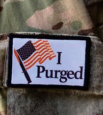 The Purge Movie Morale Patch Military Tactical Army Flag USA Hook Badge