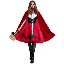 Halloween Costumes for Women Little Red Riding Hood Cosplay Fancy Dress Outfit