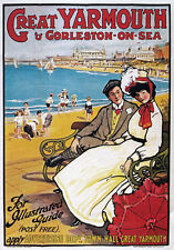 TW69 Vintage Great Yarmouth Gorleston On Sea Classic Travel Poster Re-Print A4