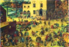 Bruegel - Kinder Spiele Motion Animation Linsenförmiges Postkarte