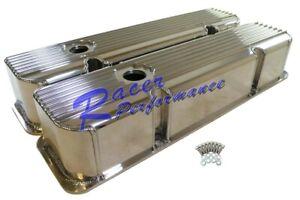 Pontiac Polish Aluminum Fabricate Valve Cover Finned 326 389 350 400 421 428 455
