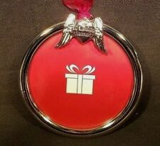 """In Loving Memory Photo Picture Frame Christmas Tree Ornament 3"""" Angel Wings"""