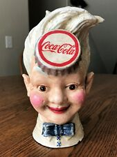 "Vintage Coca-Cola ""SPRITE BOY"" Cast Iron Bank~Heavy 7 pounds~Ads & Collectibles"