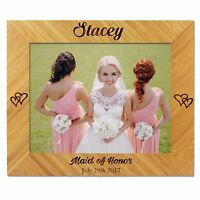 Custom Engraved 5 x 7 Picture Frame for Bridesmaids, Maid of Honor Wedding Gift