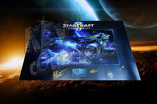 """2015 Blizzcon Starcraft 2 Legacy Of The Void 24""""x36"""" Poster - SIGNED BY DEVS"""