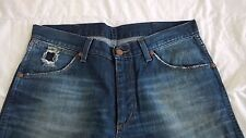 Jeans WRANGLER ALASKA NEUF taille W34 L32 broken twill denim bleu USE D'ORIGINE