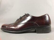 Bruno Magli Italian Oxford Dress Shoes Burgundy Lace Up 9 1/2