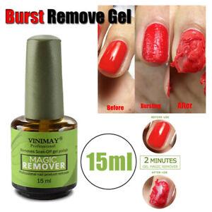 Magic Nail UV Gel Polish Remover Soak Off Base Matte Top Coat Nail Art Primer