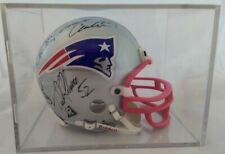 New England Patriots Mini Helmets Autographs Bledsoe Vinatieri Slade Johnson Col
