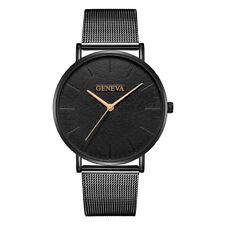 New Fashion Geneva Mens Stainless Steel Watch Quartz Analog Wrist Watch Watches
