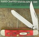 CASE XX 2004 TESTED XX RED BONE SCROLLED TINY TRAPPER KNIFE 62154 SS ITEM #01473