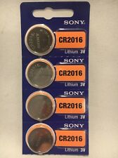 4 FRESH SONY CR2016 Lithium Battery 3V Exp 2026 Coin Cell USA SELLER