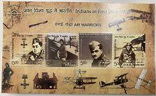 2019 INDIA MINIATURE SHEET - INDIANS IN FIRST WORLD WAR AIR WARRIORS MNH